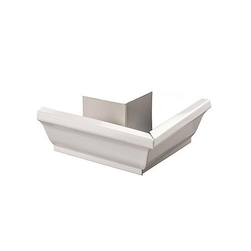 Aluminum Gutter 5-inch Outside Corner Box Mitre - White
