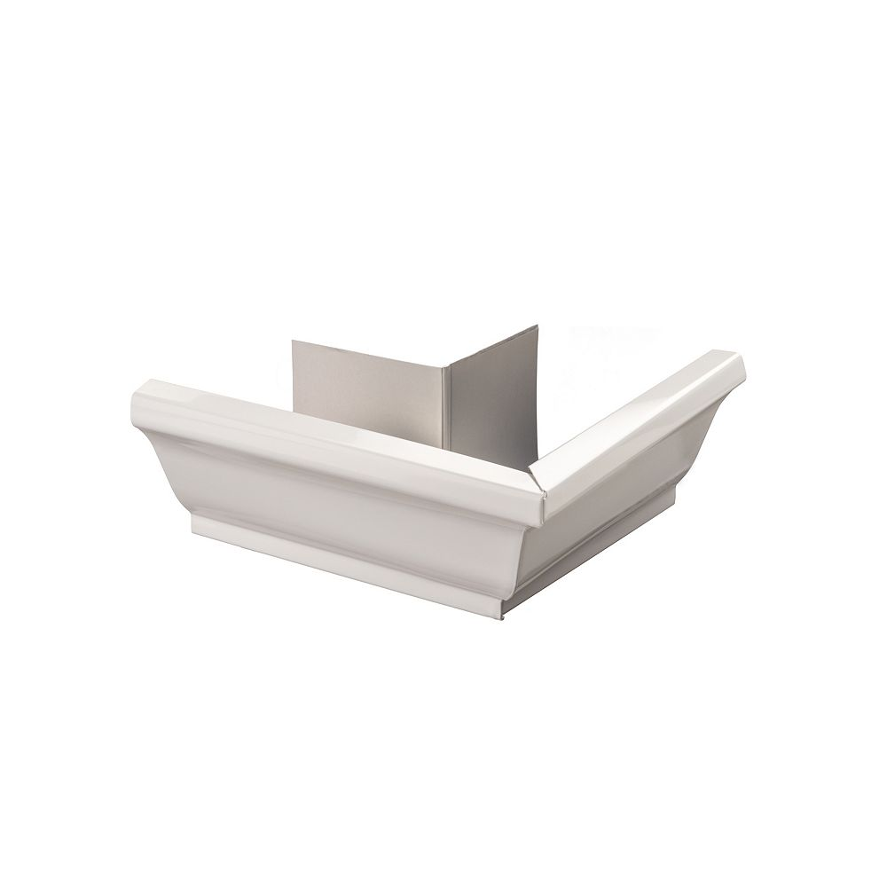 Peak Products 5-inch Aluminum Outside Corner Gutter Mitre in White