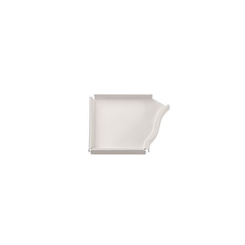 Peak Products 4-inch Aluminum Gutter Left End Cap in White