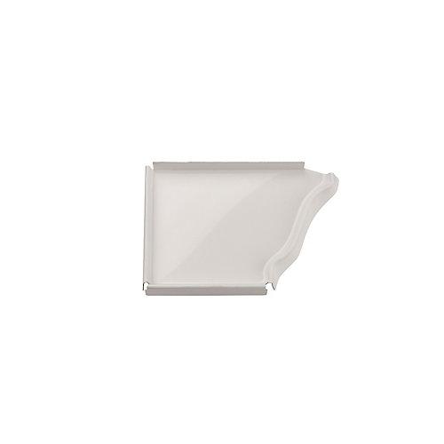 Aluminum Gutter 5 Inch Left Hand End Cap - White