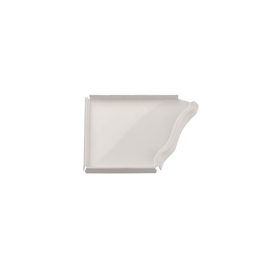Peak Products 5-inch Aluminum Gutter Left End Cap in White