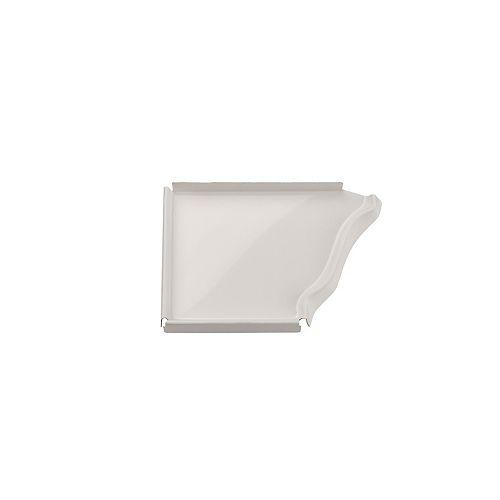 Capuchon d'extrémité gauche en aluminium, 5 po - blanc