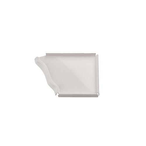 Aluminum Gutter 5 Inch Right Hand End Cap - White