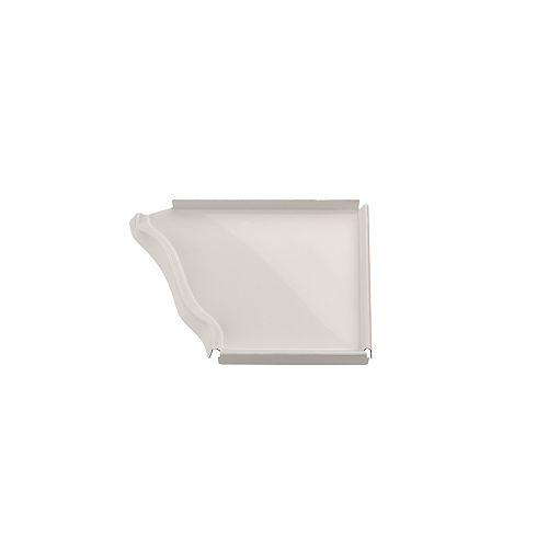 Capuchon d'extrémité droit en aluminium, 5 po - blanc