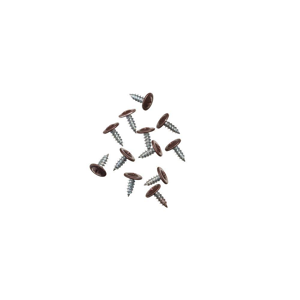 Peak Products Metal Self-Piercing Screws in Brown for Aluminum Gutter Components (12-Pack)
