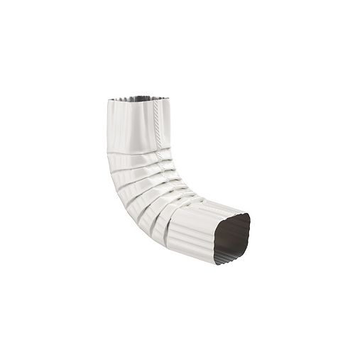 2-inch x 3-inch Aluminum Downpipe A-Elbow in White