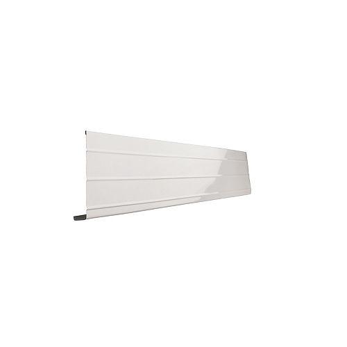 Peak Products Bordure de fascia en aluminium, 10 pi x 6 po x 1 po - blanc