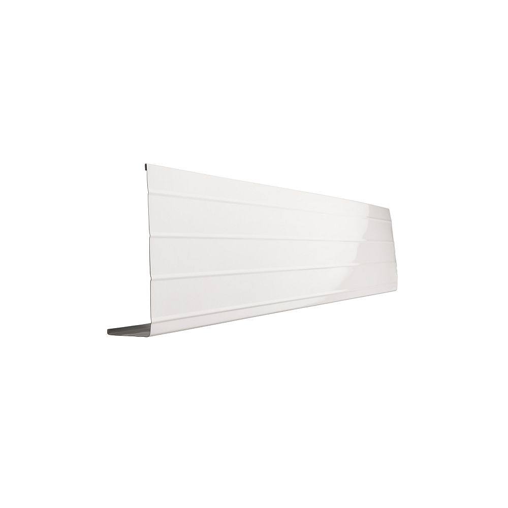 Peak Products 10 ft. L x 8-inch W x 2-inch H Aluminum Fascia Cover in White