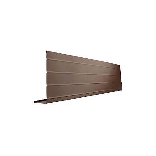 Bordure de fascia en aluminium, 10 pi x 8 po x 2 po - brun