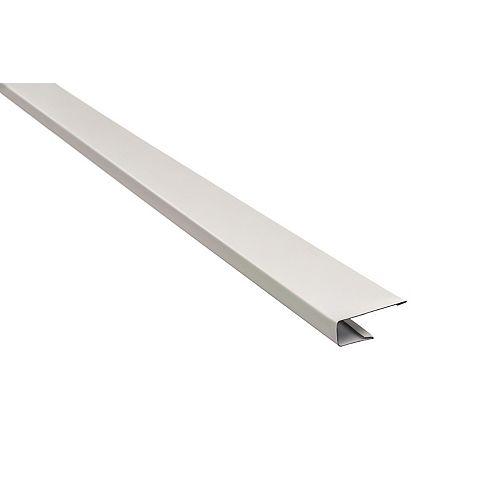 Moulure J en aluminium, 10 pi de longueur x 1 1/2 po de largeur - blanc