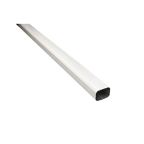 10 ft. L x 2-inch W x 3-inch H Aluminum Downpipe in White