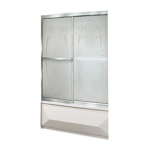 Vertiga - Porte de baignoire-douche 2 panneaux cardre chrome