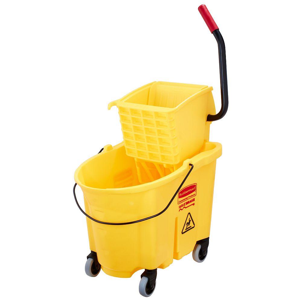 Rubbermaid Wave Brake 33L Side Press Mopping Bucket