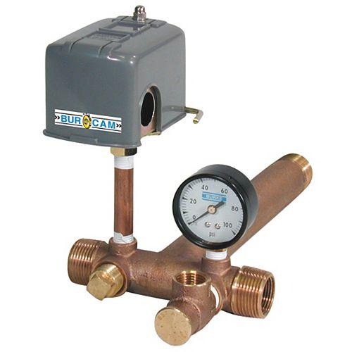 Bur-Cam Pressure Tank Tee Installation Kit