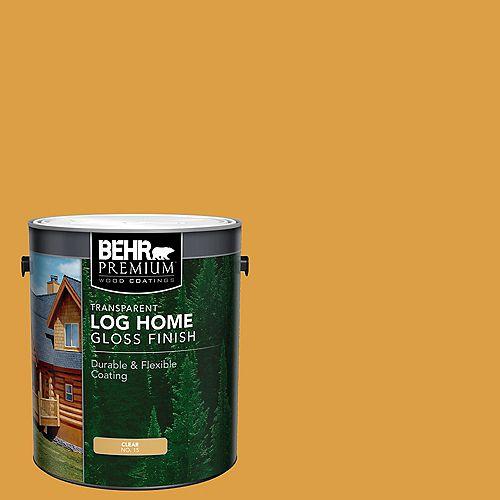 Transparent Log Home Gloss Finish - Clear No. 15, 3.79L