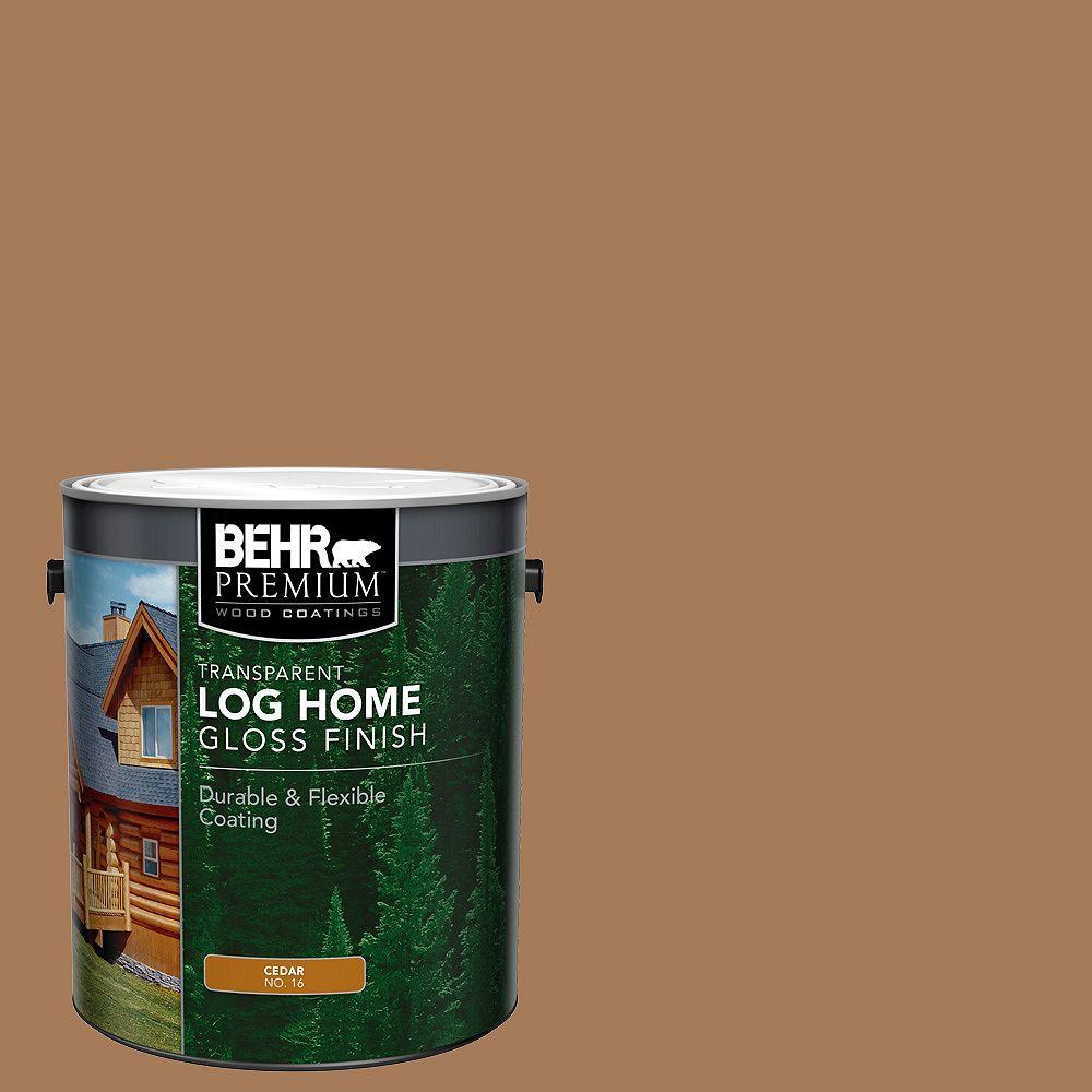 Behr Premium PREMIUM Fini lustré transparent pour maisons en bois rond - Cèdre no 16, 3,79 L