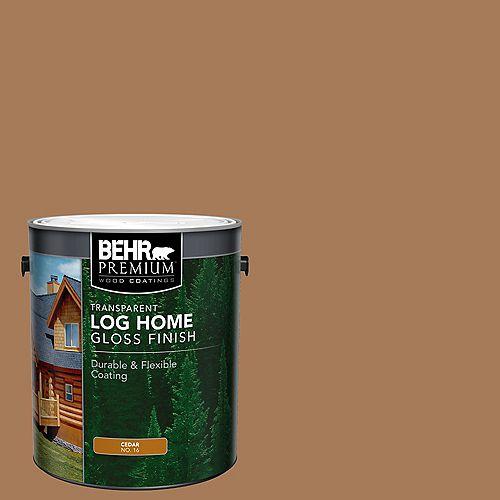 Transparent Log Home Gloss Finish - Cedar No. 16, 3.79L