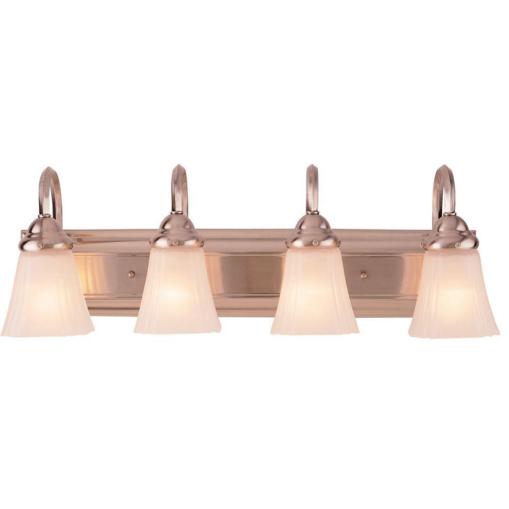 Hampton Bay 4 Light Brushed Nickel, Home Depot Canada Bathroom Vanity Lights