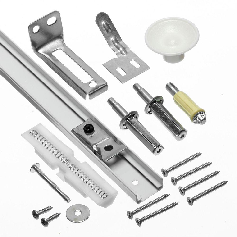 Worksavers Coulisse de porte pliante et nécessaires de ferrures - 610mm (24 po)