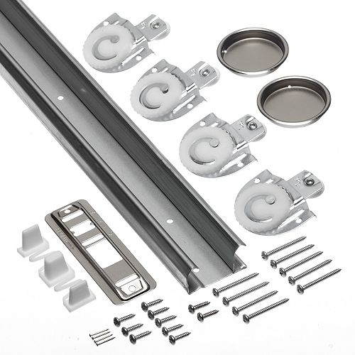 96-inch Sliding Door Track and Hardware Kit