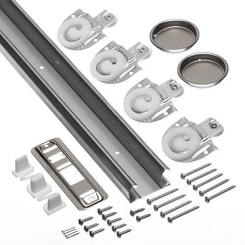 96-inch Sliding Door Track and Hardware Kit