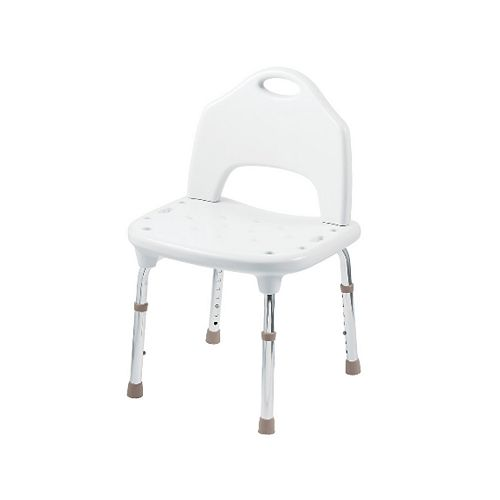 Deluxe Adjustable Tub and Shower Chair in Glacier White