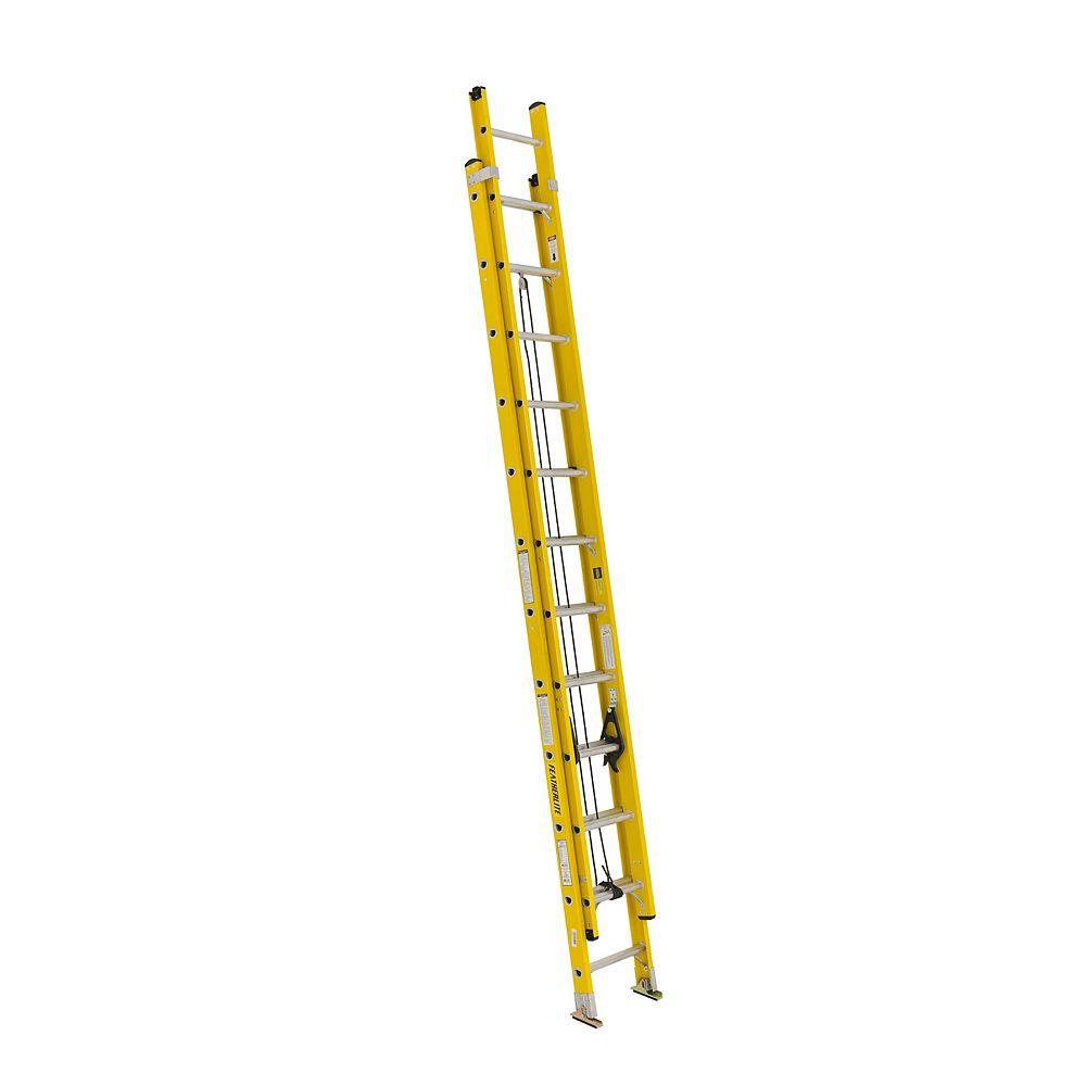 Featherlite FL-3020-24 fibreglass extension ladder 24 Feet grade IA