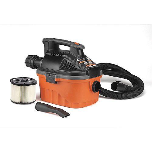 Aspirateur pour déchets secs et humides, 15L, 5,0ch; cordon de 6m et tuyau Tug-A-Long de 2,1m