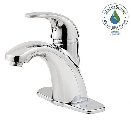 Parisa Single Hole 1-Handle Mid Arc Bathroom Faucet in Chrome with Lever Handle