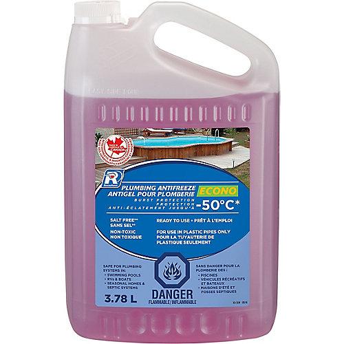 Antigel économique pour plomberie de véhicule de plaisance - 3,78 L