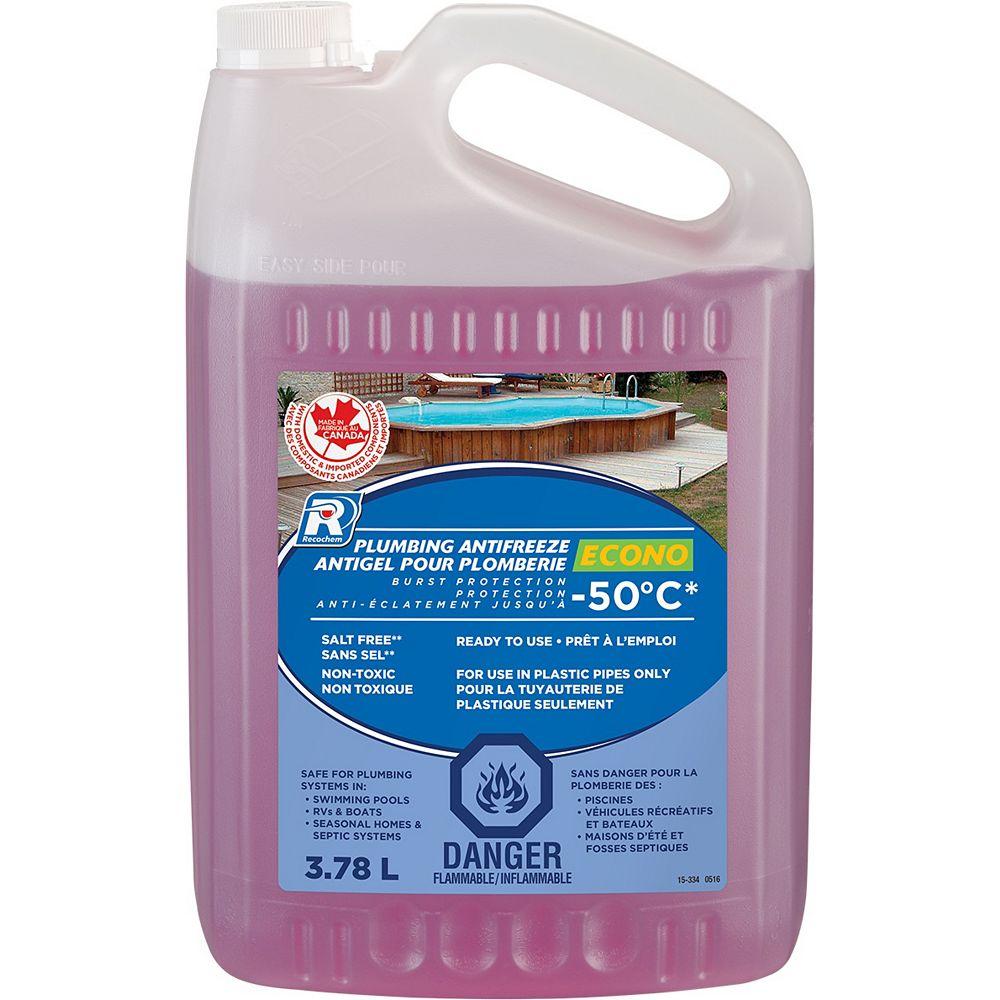 Recochem Economical Rv 3 78 L Plumbing Antifreeze The Home Depot Canada