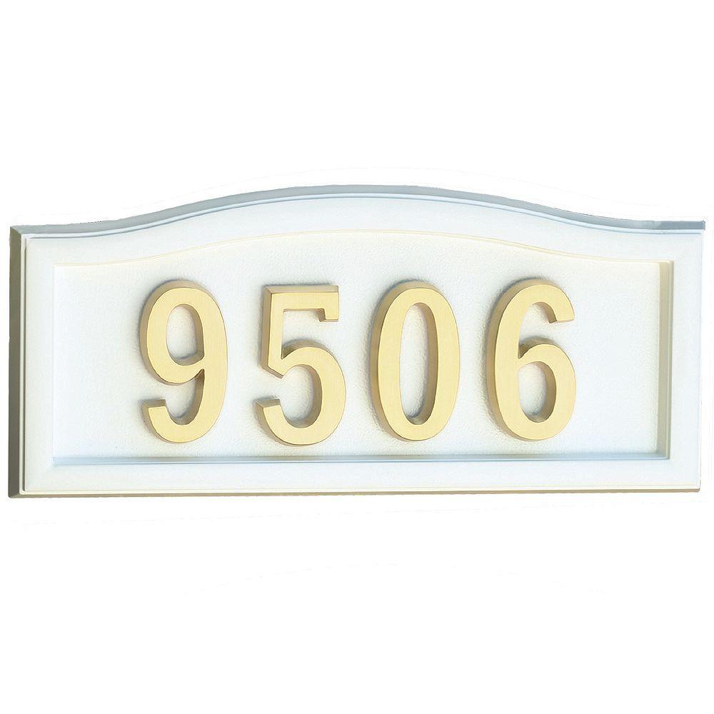 SoftCurve White Cast-Aluminum Address Plaque