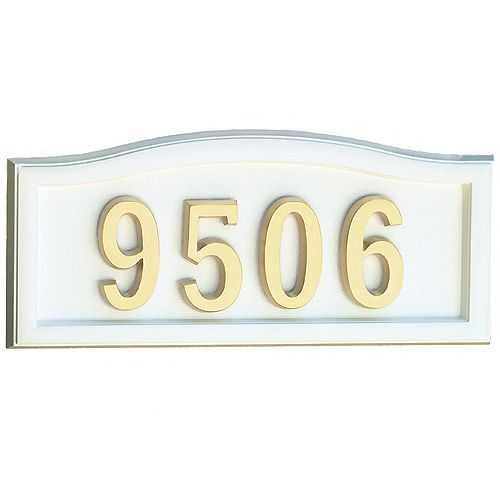 White Cast-Aluminum Address Plaque