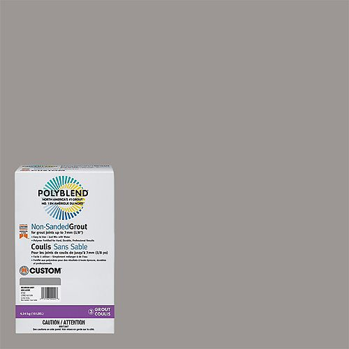 Custom Building Products #165 Delorean Gray - Polyblend Non-Sanded Grout - 10lb