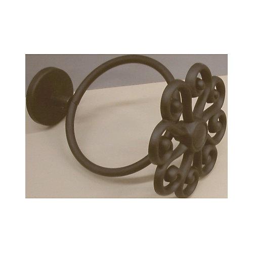 Embrasses filigranées de 3 1/2 po de diamètre - couleur noir (paire)