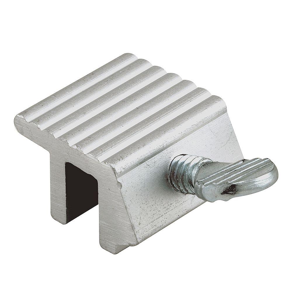 Prime-Line Verrou de fenêtre à vis de serrage, 1/4 po, aluminium extrudé (paquet de 2)