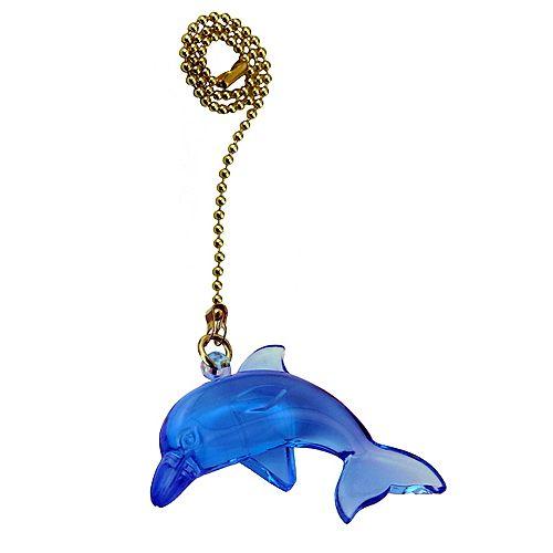 """Chainette avec dauphin et 12"""" (30.5cm) de chaîne de laiton perlée"""