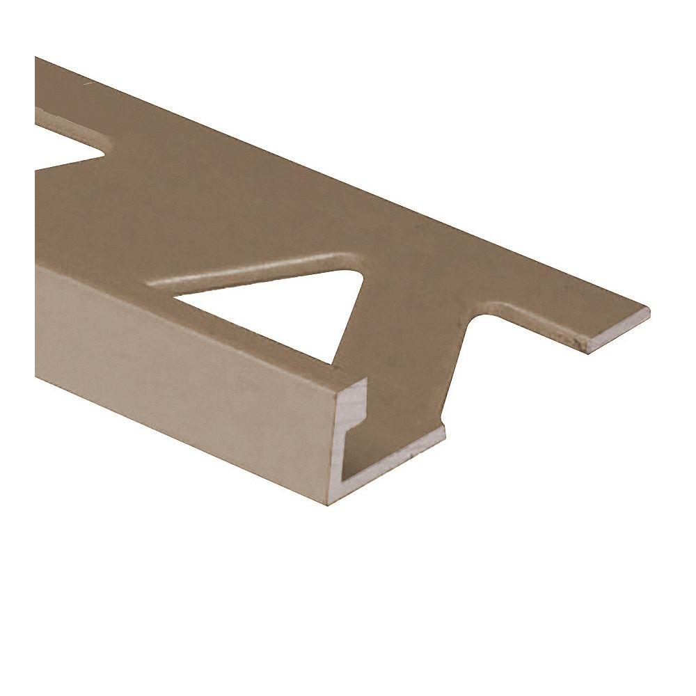 PROVA Ceramic Aluminum Tile Edge, Satin Titanium - 5/16 Inch (8mm)