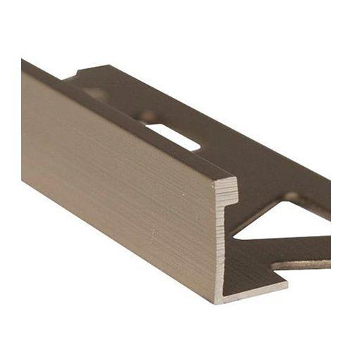 Ceramic Aluminum Tile Edge, Satin Titanium - 1/2 Inch (12mm)