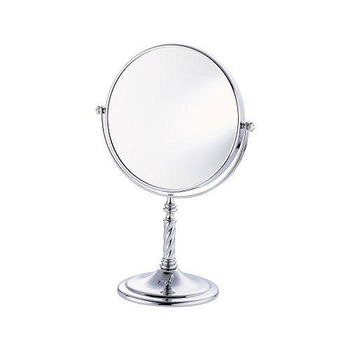 Virtue - Miroir de 8 po sur pied torsadé  fini chrome