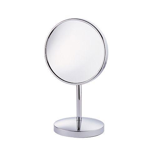 Verity  Miroir simple de 8 po sur pied télescopique
