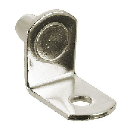 (Paquet de 8) Support à tablette en métal - 1/4 po (6.35 mm) - nickel