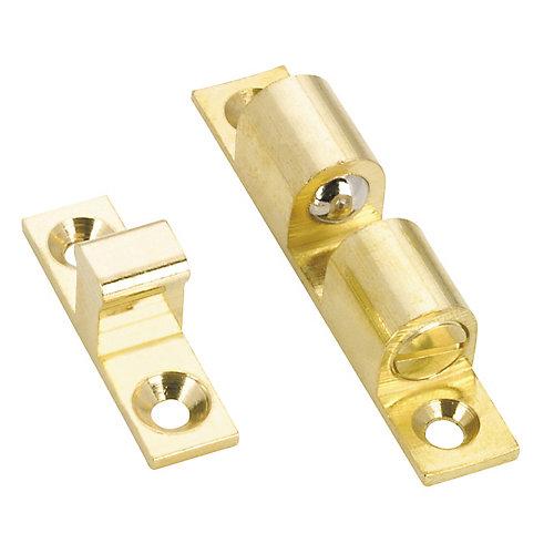 60 mm x 11 mm Heavy-Duty Double Ball Latch - Brass