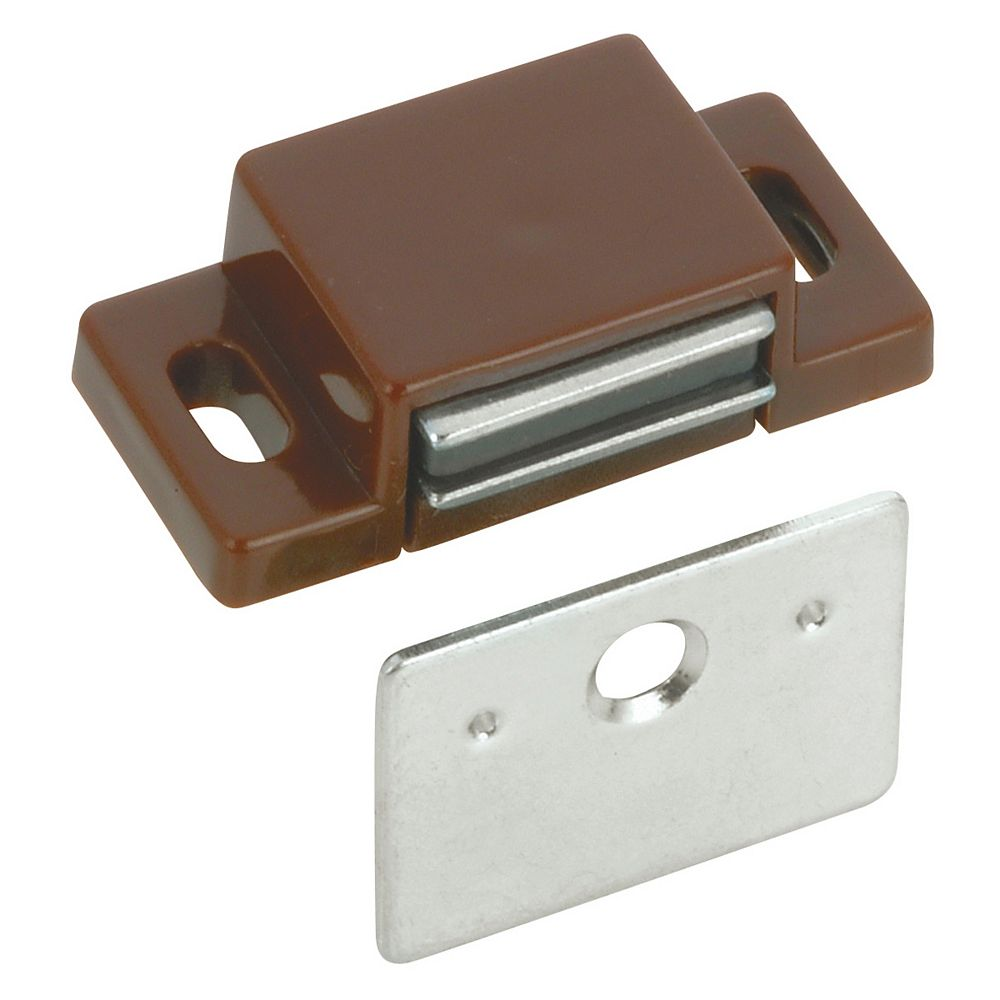 Richelieu 1 1/4 in (32 mm) Magnetic Catch, Brown