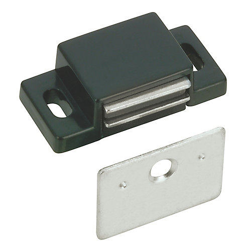Black Single Magnetic Catch with Plate