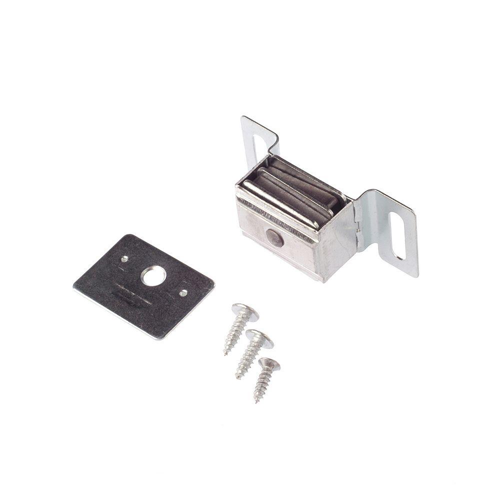 Richelieu 1 27/32 in (47 mm) Double Magnetic Catch, Aluminum