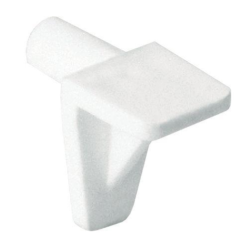 (Paquet de 100) Support à tablette en polycarbonate - 3/16 po (5 mm) - blanc