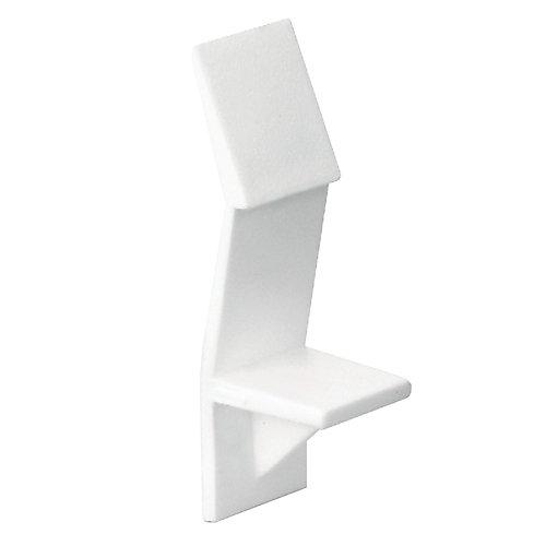 White Locking Plastic Shelf Pin - 1/4 in.
