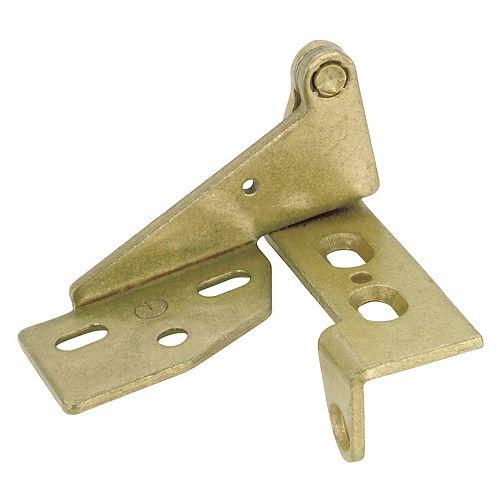 Hinge for 3/4 in. Door - Variable Overlay - Antique Brass
