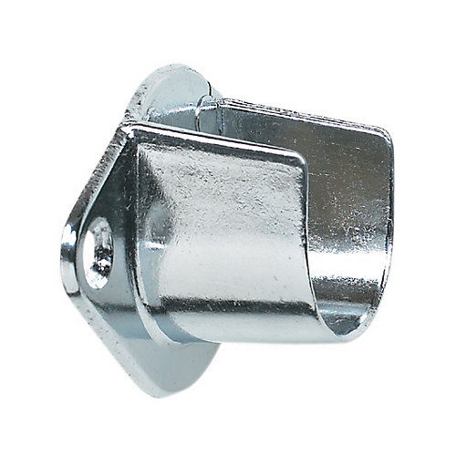 Screw-in Open Rod Support - Chrome